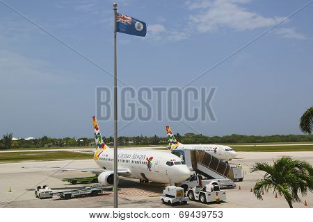 Cayman Airways Boeing 737 at Owen Roberts International Airport at Grand Cayman