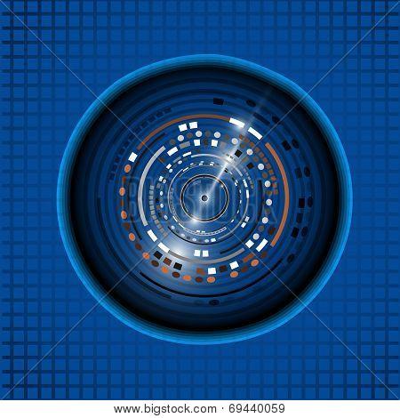Eyeball technology background