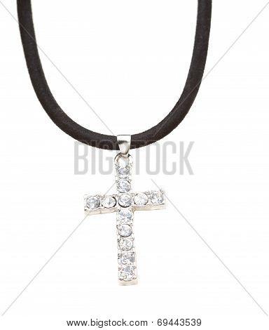 Beautiful diamond cross necklace