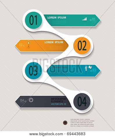 Infographic step by step template.