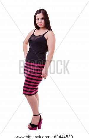 Beautiful Girl Isolated Over White Background