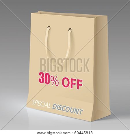 VECTOR SHOPPING BAG WITH PROMOTION