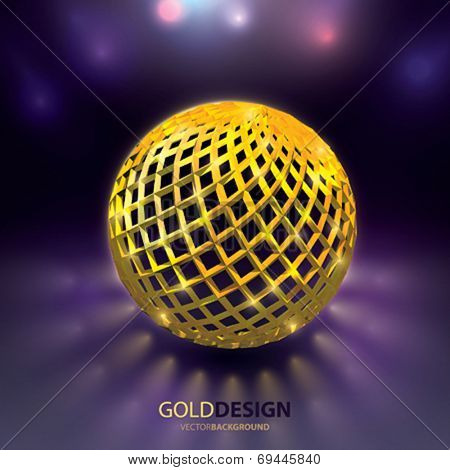 Vector background. Glow Sphere