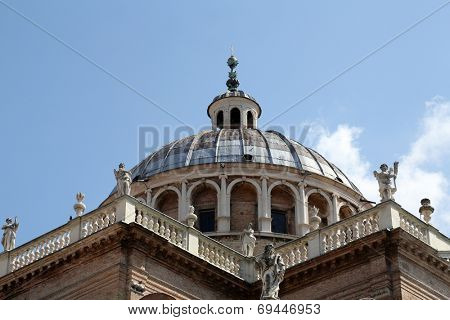 PARMA, ITALY - MAY 01, 2014: Basilica Santa Maria della Steccata. Basilica is a Marian shrine made in Parma between 1521 and 1539 and in 2008 elevated to the rank of minor basilica