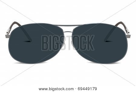 Sunglasses. Aviator Retro Style. Isolated On White Background