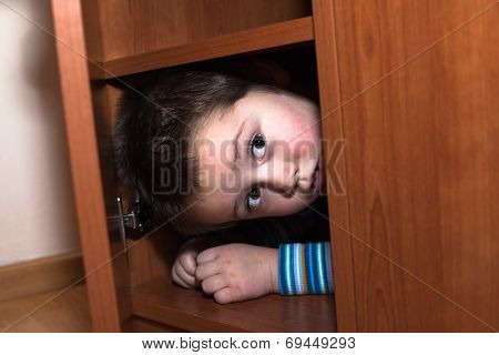 Scared Child Hiding