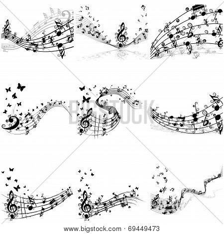 Musical Notes Staff Set