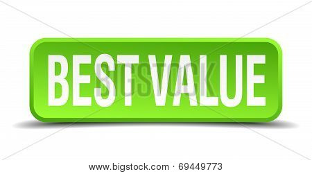 Best Value Green 3D Realistic Square Isolated Button