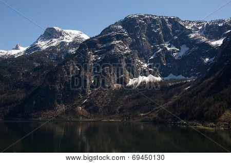 Alps Range Along The Lake