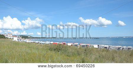 Beach of Binz, Ruegen Island in Germany