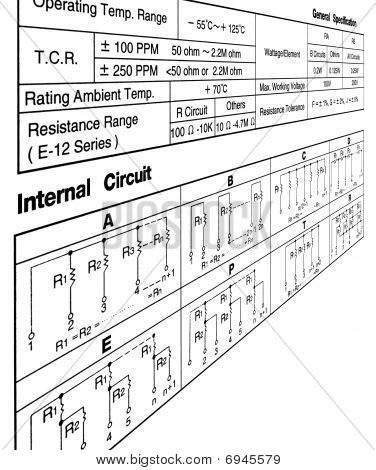 Circuit Specification Concept On White