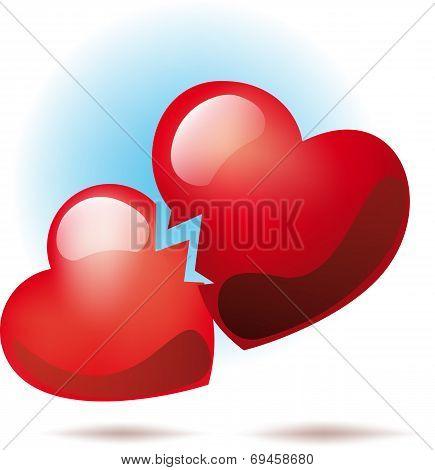 Two broken hearts