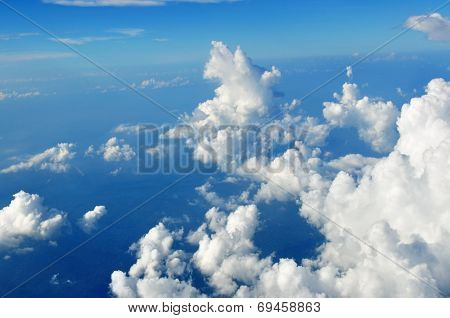 Cloudscape taken from plane's window
