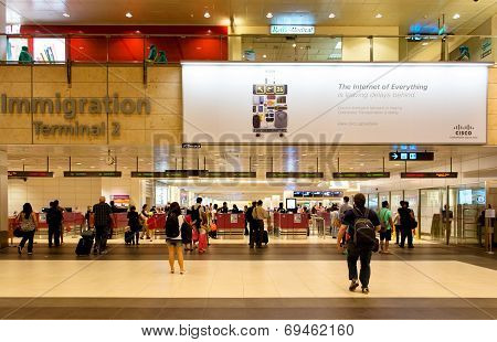 People inside Changi Airport