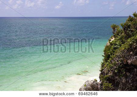 small Mexico beach at Tulum ruins, Yucatan