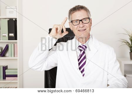 Male Doctor Having A Brainwave