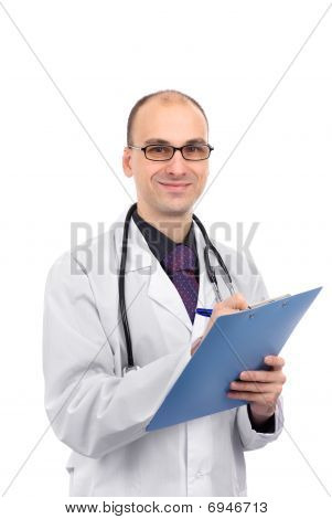 Portrait Of A Male Doctor Smiling