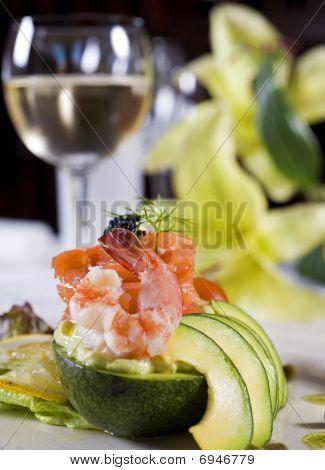 Salada de camarão à la carte