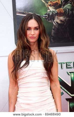 LOS ANGELES - AUG 3:  Megan Fox at the Teenage Mutant Ninja Turtles Premiere at the Village Theater on August 3, 2014 in Westwood, CA