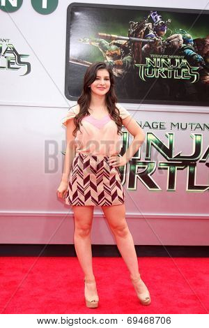 LOS ANGELES - AUG 3:  Kathrine Herzer at the Teenage Mutant Ninja Turtles Premiere at the Village Theater on August 3, 2014 in Westwood, CA