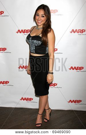 LOS ANGELES - AUG 1:  Danielle Robay at the AARP Luncheon  IHO Jeff Bridges at the Spago on August 1, 2014 in Beverly Hills, CA