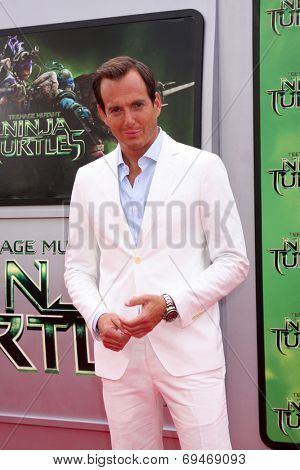 LOS ANGELES - AUG 3:  Will Arnett at the Teenage Mutant Ninja Turtles Premiere at the Village Theater on August 3, 2014 in Westwood, CA