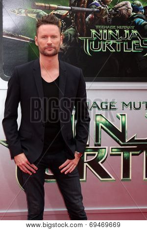 LOS ANGELES - AUG 3:  Brian Tyler at the Teenage Mutant Ninja Turtles Premiere at the Village Theater on August 3, 2014 in Westwood, CA