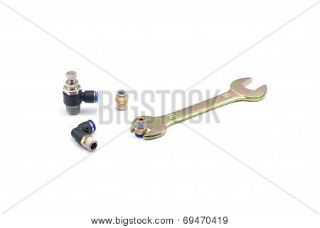 Wrench And Pneumatic Fitting