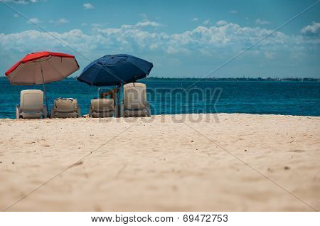 Relaxation In The Shade On The Beach