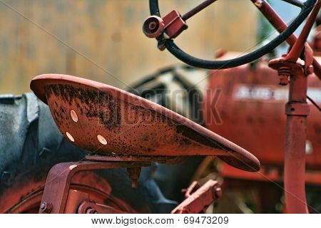 Rusty Vintage Tractor Seat