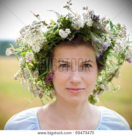 Flowers Woman Wreath