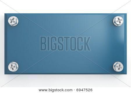 blue metallic tablet