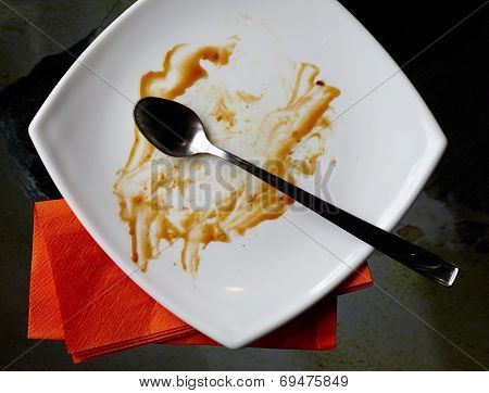 Empty Plate With Leftovers