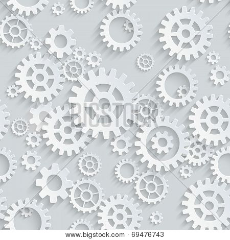 Vector seamless gears pattern