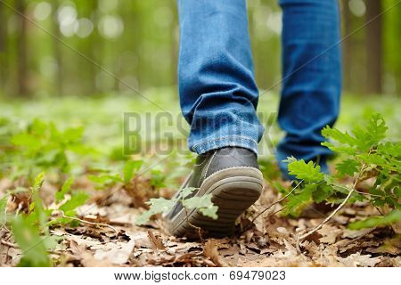 Man Feet Walking