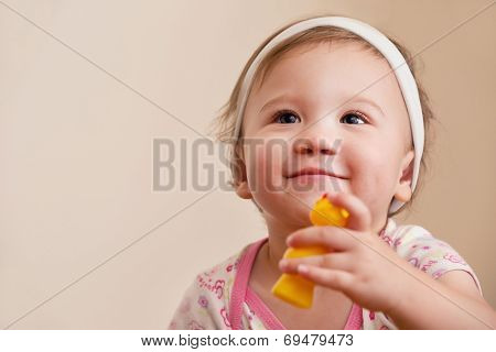 Smiling Baby Looking