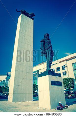 Statue of genaral M.R. Stefanik at city Bratislava