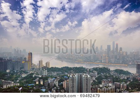 Chongqing, China over the Yangtze River.