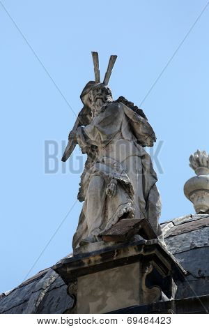 PARMA, ITALY - MAY 01, 2014: Statue of Saint. Basilica Santa Maria della Steccata. Basilica is a Marian shrine made in Parma between 1521 and 1539 and in 2008 elevated to the rank of minor basilica