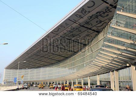 KOLKATA,INDIA - FEB 17:The new terminal of International departures of Kolkata airport on February 17, 2014 in Kolkata,India.