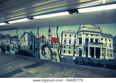 Graffiti In The Bratislava, Slovakia