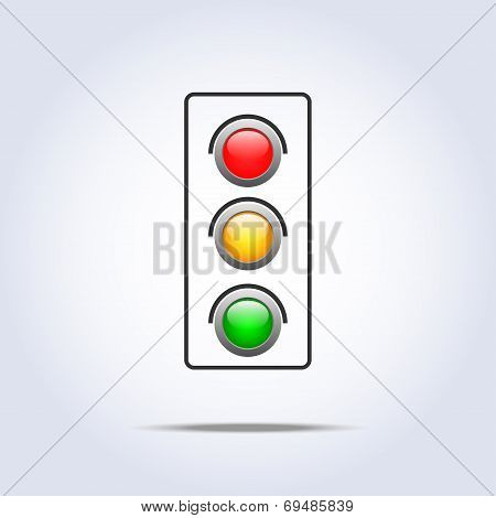 Traffic light icon one object