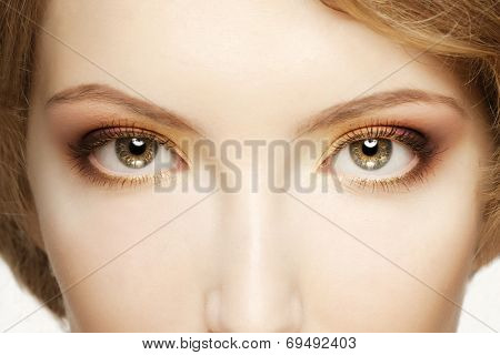 Women eyes close up