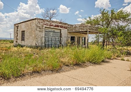 Dilapidated Service Station