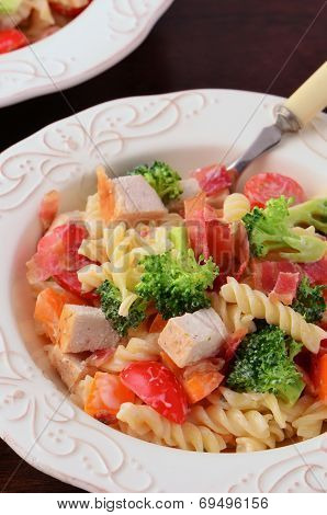 Chicken Veggie Pasta Salad