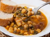 picture of stew  - Potaje de Garbanzos y espinacas - JPG