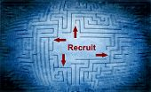 stock photo of recruiting  - Close up of Recruit maze concept text - JPG