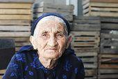 Elderly Woman In Dress