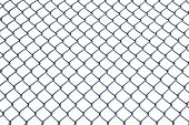 stock photo of chain link fence  - Chain Link Fence With Clipping Paths in Spaces - JPG