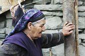 Senior Woman Stopped For Short Respite